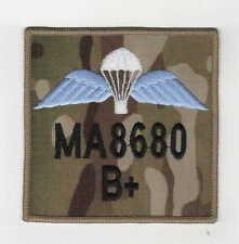 RAF Para Wings ZAP and blood group badge on MTP 9cm x 9cm hook & loop backed