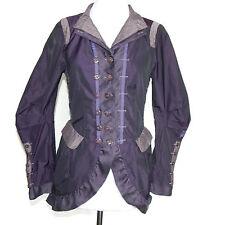 Aventures des Toiles Purple Shimmer Gothic Victorian Bustle Jacket size 34