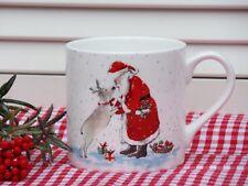 IHR Kaffeetasse Becher Santas Best Friend Rentier Weihnacht Bone China Porz H8,5