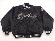 * New York Yankees Starter Bomber veste * noir argent * USA * Vintage * Gr: XL * TIP TOP