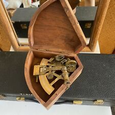 """Antique Brass Marine Nautical Sextant Collectible 5"""""""