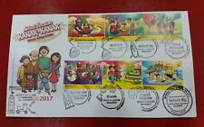 Legoland Lego Setenant strip Stamp Week Malaysia First Day Cover FDC 2017