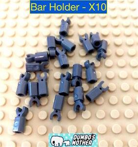 Lego Bar Holder with Clip Dark Bluish Gray Minifigure Accessory NEW X10