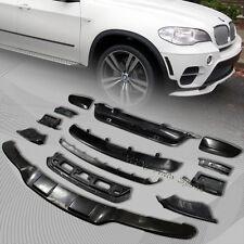 For 2011-2013 BMW X5 E70 Black Aerodynamic Body Front + Rear Bumper Lip Kit 13pc