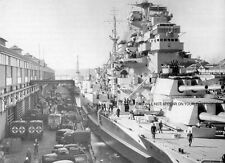 ROYAL NAVY BATTLESHIP HMS ANSON AT SYDNEY AUSTRALIA IN 1945