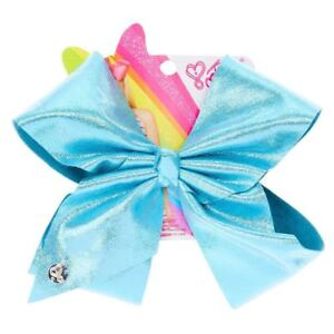 JoJo Siwa Large Turquoise Signature Hair Bow Shiny Dance Cheerleader Pageant Bow