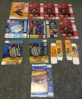 lot of 13 SPIDER-MAN boxes~ Gummies, Fruit Snacks, Cheese Nips, Lunchables, more