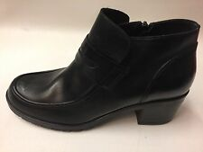 New Women's John Lewis Quality Black Leather Zip Ankle Boots RRP £99 UK 7 EU 40