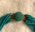 ALICE CAVINESS VINTAGE turquoise torsade necklace - SIGNED - New w/ tag