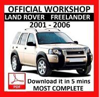 OFFICIAL WORKSHOP Manual Service Repair LAND ROVER FREELANDER 2001 - 2006