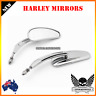 Chrome Rear view Mirror Harley Sportster XL IRON 883 1200 Dyna FXDSE FXDSE2 CVO