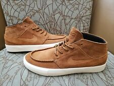 Nike SB Mens Zoom AIR Janoski Mid Crafted Leather Shoes  British Tan Size 8 New