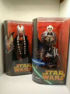 Star Wars General Grievous & Shaak Ti Revenge of the Sith 12 inch figures