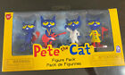 Pete The Cat Toy Figure 4 Pack NEW Skateboard Guitar Dancing Safety Officer