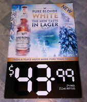 Vintage First Release Pure Blonde White Lager Corflute Advertising Display Sign