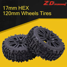 2pcs ZD Racing 17mm HEX&120mm Wheels Tires for 1/8 Off-road Car Buggy Redcat HSP