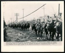 1948 Wire Photo CHINA Mounted Rifle Troops On Patrol In NANKING