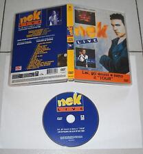 Dvd NEK LIVE Lei gli amici e tutto il Tour – OTTIMO 1998 Concerto Milano 1997