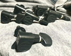 Black Vintage 1980s Ovation 6-In-Line Guitar Tuners