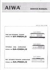 Aiwa Service Manual für ST-R 80  SA-C 80  SA-P 80    .