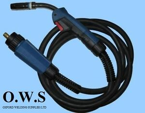 MB25 4M 4Meter BINZEL TYPE MB25 Euro Mig Welding Torch Lance for Gas / Gasless