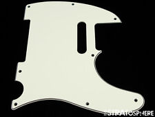 *NEW Parchment Telecaster PICKGUARD for Fender USA Standard Tele 3 Ply 8 Hole