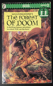 The Forest of Doom Fighting Fantasy #3 1986 1/20 Green Banner VG+