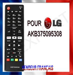 Télécommande TV pour LG AKB75095308 avec les boutons Netflix et Amazon SMARTTV