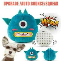 Automatic Dog Squeak Toy Cartoon Plush Jumping Giggle I0U8 Bal Shake Intera Z8M6