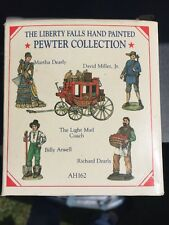 The Liberty Falls Hand Painted Pewter Collection, Martha Dearly, Mail Coach