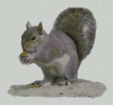 "Grey Squirrel Counted Cross Stitch Kit 10.5"" x 9.75"" 26.7cm x 24.9cm Free P&P"