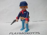 PLAYMOBIL WESTERN. TIENDA PLAYMOXOY76. FIGURA DE SOLDADO DE LA UNIÓN ANTIGUO.