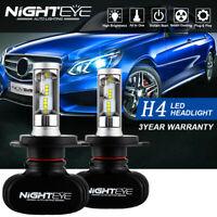 Nighteye 50W 8000LM H4 HB2 LED Headlight Kit Hi/Lo Beam Globe Bulbs 6500K White