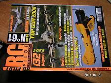 RC Pilot n°61 plan encarté Minimax / Rafale Gee Bee Fox Boomerang XXL