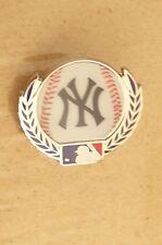 NY New York Yankees baseball w/ laurels lapel pin MLB ball