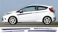Ford Fiesta Mk7 Zetec - 3 Türen Streifen Sticker Aufkleber s1600