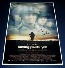 SAVING PRIVATE RYAN CAST x4 PP SIGNED MOVIE POSTER 12X8