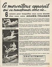 Publicité Advertising 1965  Appareil de sport ADAMS TRAINER