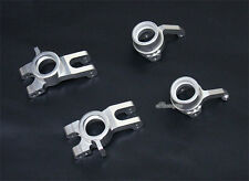 Alloy Knuckle Arm+Hub Carrier for Inferno Mp9 Silver