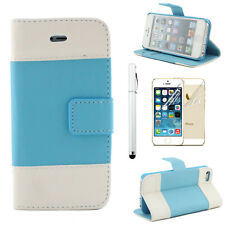PU Leather Wallet Card Case Cover Stand for Apple iPhone 4 4s 5 5s SE 6 6 Plus