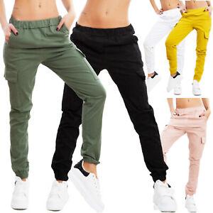 Pantaloni donna casual cargo tasconi baggy primavera cotone TOOCOOL VI-0070