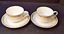TWO Signature Collection Queen Anne Tea Cup Saucer Sets 2 EXCELLENT