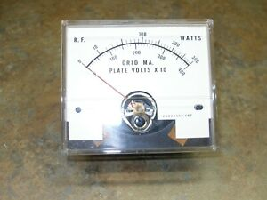 DRAKE L-4B PARTS: multi meter power grid current plate volts