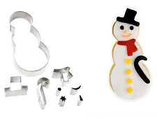 Eddingtons Cookie Craft 8 Piece Snowman Cutter Set Biscuit Pastry Christmas Xmas