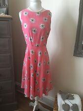 Debenhams Redherring Ladies Floral Daisy Pink Tea Dress