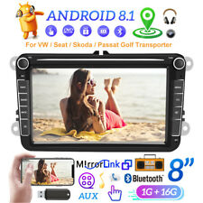 2Din 8'' Radio de coche Android 8.1 GPS Navi Wifi para VW PASSAT GOLF POLO Caddy