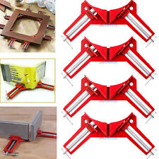 "4x 90° Degree Right Angle Miter Picture Frame Corner Clamp Holder 3"" Hand Tool"