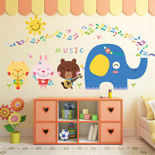 Animals Music Party Room Home Decor Removable Wall Stickers Decals Decorations