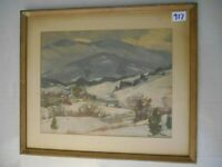 Print by listed  artist R.T. Hibbard  done  mid 20th century