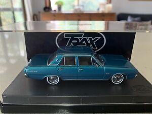Trax. 1/43 Scale. 1969 VF Valiant Regal Sedan. Turquoise Metallic.
